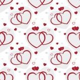 tła serc bezszwowy valentine ilustracja wektor