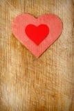 tła serc czerwieni drewno fotografia royalty free