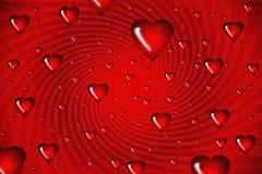 tła serc ilustracyjny czerwony zawijas royalty ilustracja