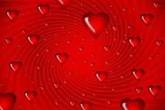 tła serc ilustracyjny czerwony zawijas ilustracja wektor