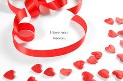 tła serc miłości faborek mały Zdjęcie Stock
