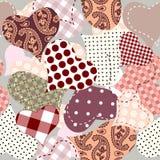 tła serc patchwork bezszwowy Obrazy Stock