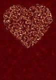 tła serca czerwień Obrazy Royalty Free
