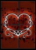tła serca płatki Obraz Royalty Free