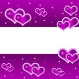 tła serca purpury royalty ilustracja