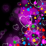 Tła serce Wskazuje walentynka abstrakt I dzień ilustracji