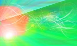 tła skutka włókna łuny zieleni n system Obrazy Royalty Free