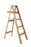 tła stepladder biały drewniany zdjęcie stock