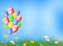 tła stubarwny balonowy jaskrawy royalty ilustracja