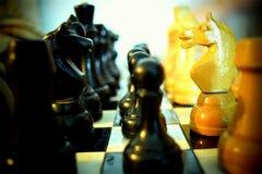 tła szachowego chessboard ilustracyjni kawałki biały fotografia stock