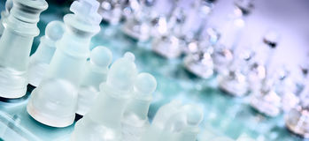 tła szachy szkło Zdjęcia Stock