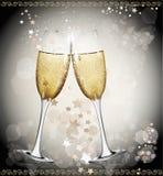 tła szkieł nowy dwa wina rok Zdjęcie Royalty Free