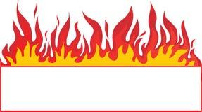 tła sztandaru ogień Obrazy Royalty Free