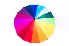 tła tęczy parasolowy biel Obrazy Stock