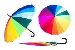 tła tęczy parasolowy biel Obrazy Royalty Free