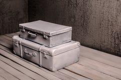 Tła, tekstur wnętrzy walizka/ Obrazy Stock