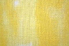 tła tkaniny kolor żółty Obraz Royalty Free
