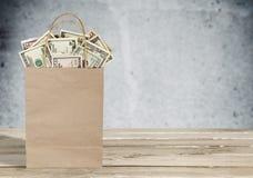 tła torby graficzny grunge wizerunku pieniądze wektor Zdjęcia Royalty Free