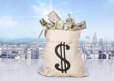 tła torby graficzny grunge wizerunku pieniądze wektor Zdjęcie Stock