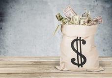 tła torby graficzny grunge wizerunku pieniądze wektor Zdjęcie Royalty Free