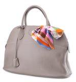 tła torebki s białe kobiety Zdjęcie Royalty Free