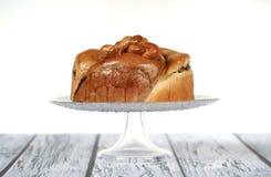 tła tort odizolowywający gąbki biel Obrazy Royalty Free