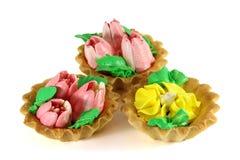 tła tortowego deseru odosobniony słodki biel Obraz Royalty Free