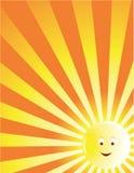 tła twarzy promienia słońca kolor żółty royalty ilustracja
