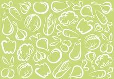 tła warzywo royalty ilustracja