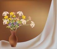 tła waza kwiatów waza dzika Zdjęcie Stock