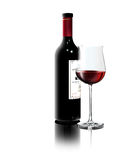 tła wino czerwony biały Zdjęcie Stock