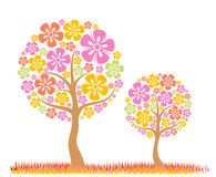 tła wiosna drzewa wektor Zdjęcia Stock