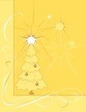 tła złota drzewo Obraz Stock