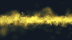 Tła złota ruch Wszechrzeczy złocisty pył z gwiazdami na czarnym tle Ruchu abstrakt cząsteczki zbiory