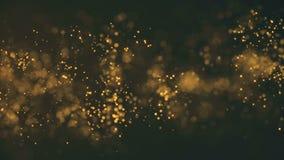 Tła złota ruch Wszechrzeczy złocisty pył z gwiazdami na czarnym tle Ruchu abstrakt cząsteczki royalty ilustracja