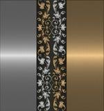 tła złota srebro Obraz Stock