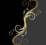 tła złoto czarny kwiecisty Fotografia Royalty Free