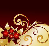 tła złoty kwiecisty Obrazy Stock