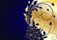 tła złoty kwiecisty Zdjęcia Royalty Free