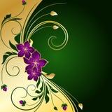 tła złoty kwiecisty Obraz Royalty Free