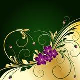 tła złoty kwiecisty Zdjęcia Stock