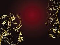 tła złoty kwiecisty ilustracji