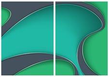 Tła z abstraktem 3D Kształtują i Ocieniają ilustracja wektor