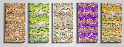 Tła z marmoryzacją kiedy było tła może pouczać tekstury marmurem użyć plusk farby Kolorowy fluid Ja może używać dla plakata, kart ilustracja wektor