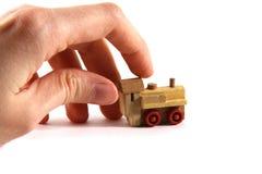 tła zabawki pociągu biel Fotografia Stock