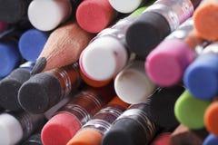 tła zakończenia barwioni ciemni grafitowi ołówki grafitowy Zdjęcia Royalty Free