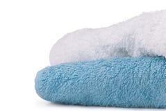 tła zakończenia odosobneni ręczniki dwa w górę biel Zdjęcie Stock
