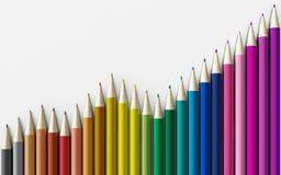 tła zamknięci colour ołówki up biel ilustracji