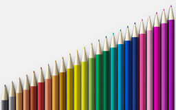 tła zamknięci colour ołówki up biel ilustracja wektor