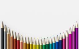 tła zamknięci colour ołówki up biel royalty ilustracja